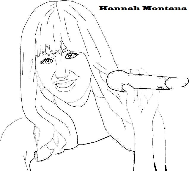 hannah montanna printable coloring pages - photo#25