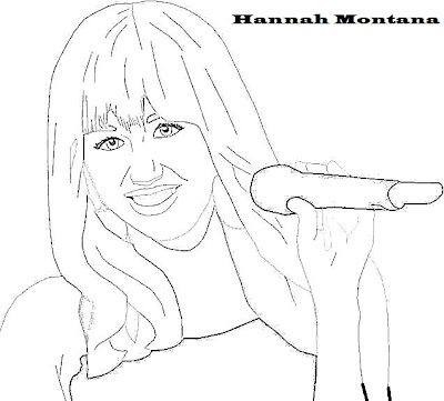 Hannah Montana Printable Coloring Pages Printable