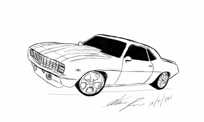 Ss camaro coloring pages