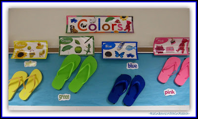Ocean Bulletin Board using Flip Flops as Color Focus {Ocean RoundUP at RainbowsWithinReach}