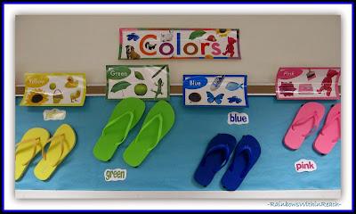 Ocean Bulletin Board using Flip Flops as Color Focus {Ocean RoundUP at RainbowsWithinReach}