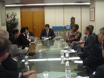 Reunião com o Ministro da Educação Fernando Haddad para tratar da suspenção do Kit Gay