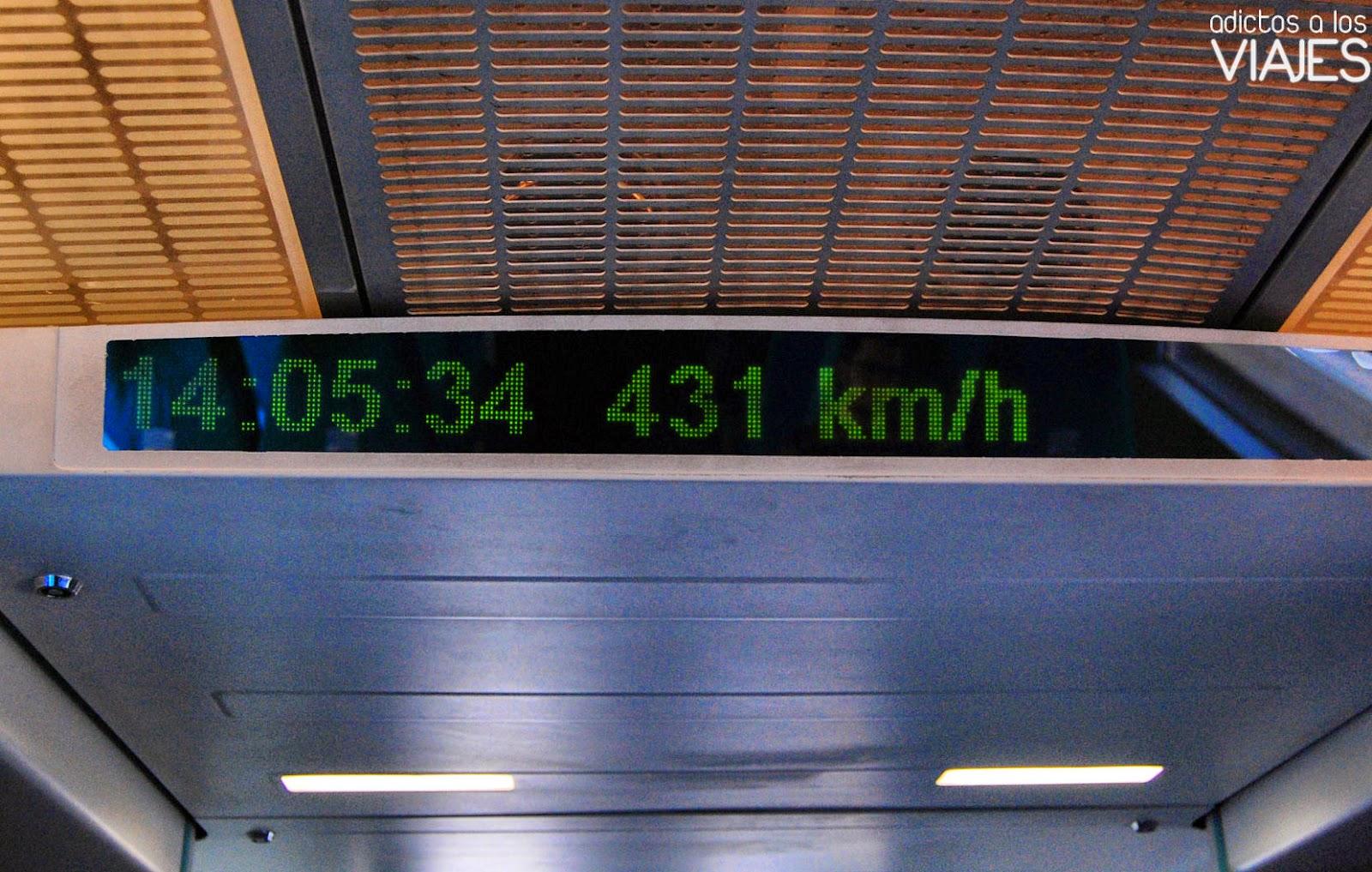 velocidad tren levitacion magnetica shanghai