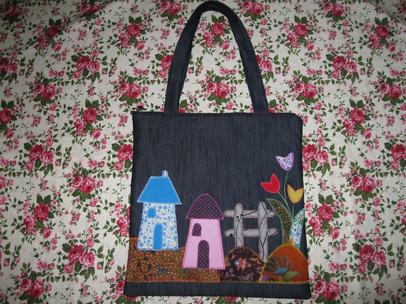 Arinaste Bersinar Craft Tote Bag Aplikasi Perca