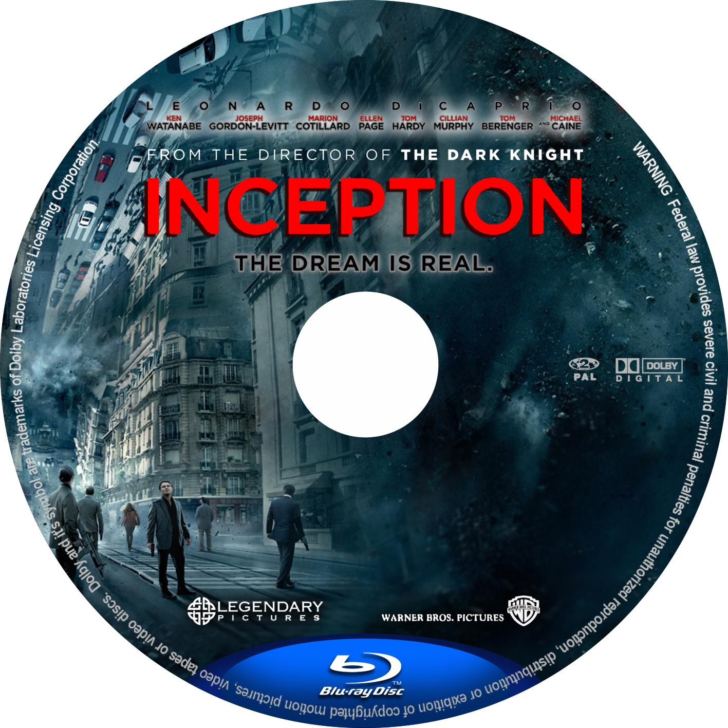 Inception Dvd Label Art