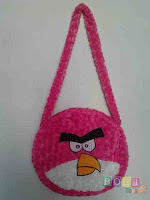 Tas Angry Birds warna pink