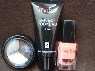 Kosmetyki MARIZA: Podkład, lakier, cienie - moja opinia