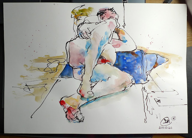 15 minute life drawing sketch by David Meldrum