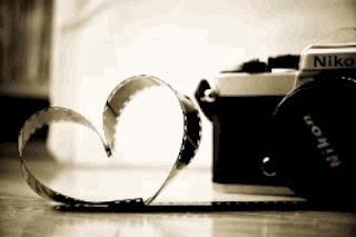 un coeur d'amour former avec un pellicule