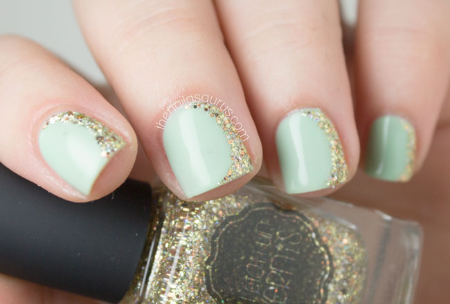 Side Frenchy with Il Etait Un Vernis - The Nailasaurus | UK Nail Art Blog