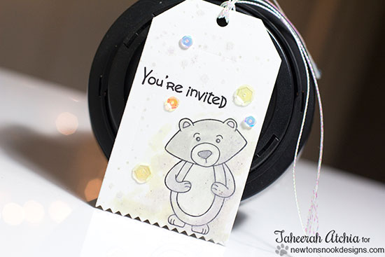 Bear Tag invite by Taheerah Atchia | Newton's Nook Designs