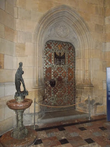 """Door in St Wenceslas Chapel of  St Vitus Cathedral  that safeguards the """"CROWN JEWELS VAULT"""""""