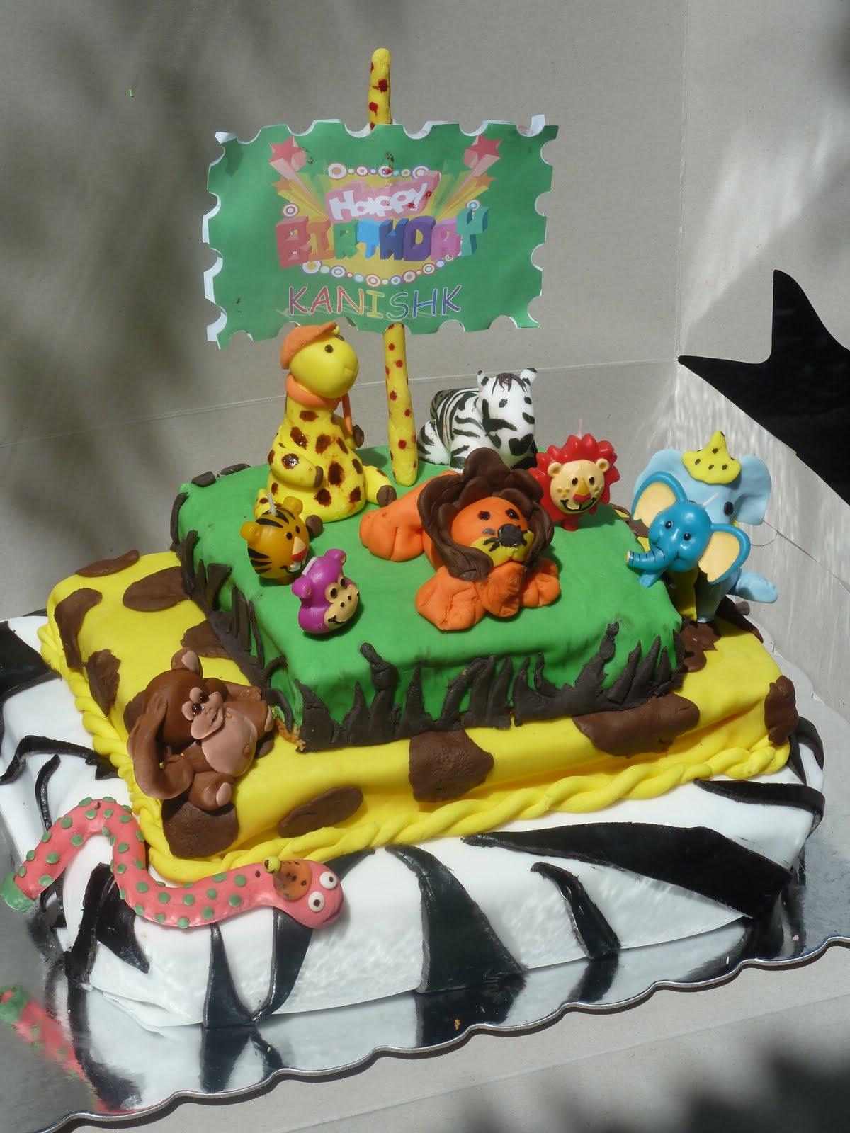 The Crafts Corner Zoo Themed Birthday Cake