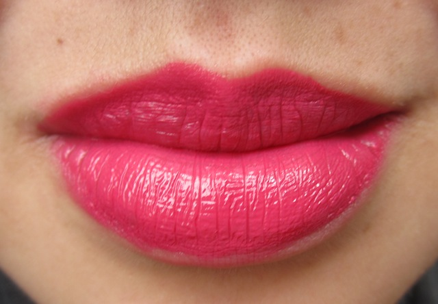 NYX round lipstick in spellbound...warm natural sunlight...