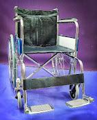 Chromed wheelchair