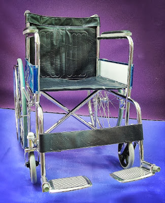Chromed wheelchair