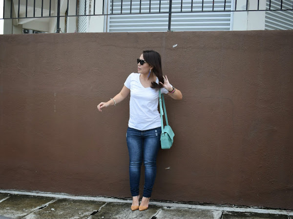 Outfits Diary : Blue jeans & white t-shirt