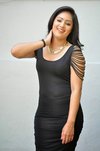 Actress Nikesha Patel Latest  Pictures in Black Short Dress 15.JPG