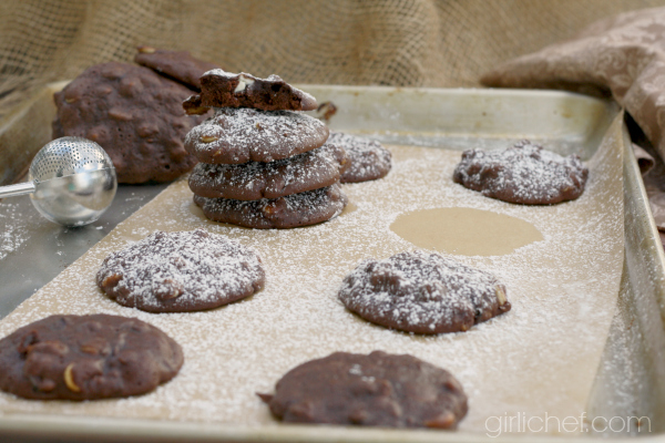 Triple-Chocolate Brownie Cookies with Zucchini #OXOGoodCookies via @girlichef