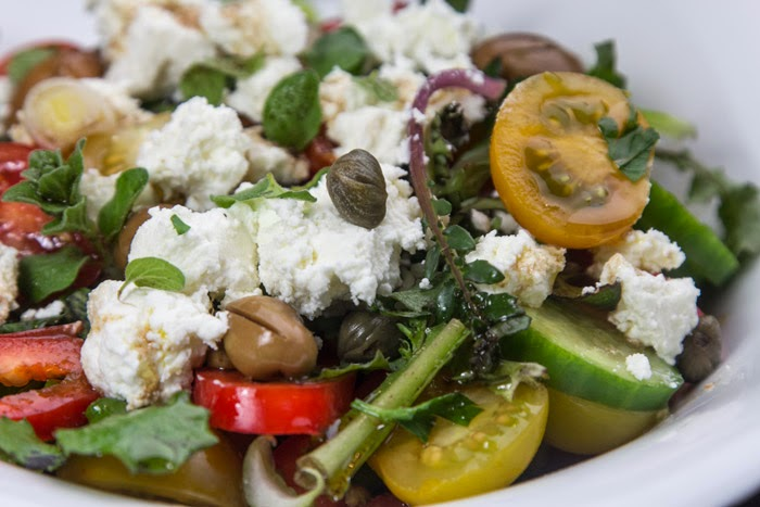 """Choriatiki""  The famous Greek Salad, Mediterranean Diet, Sifnos recipe,"