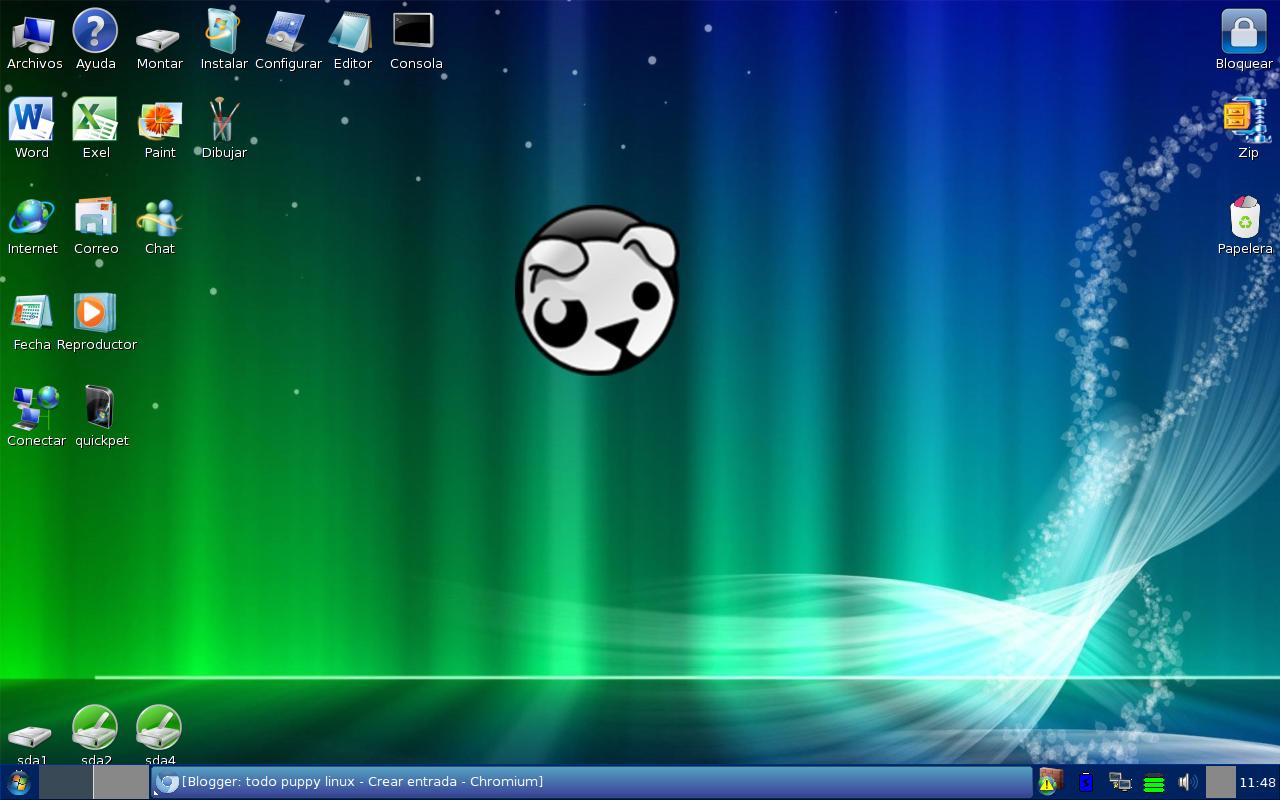 Revive tu pc antiguo con puppy linux taringa - Iconos para escritorio windows ...
