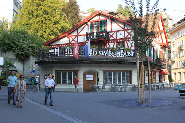 An old Swiss House in Lucerne, Switzerland