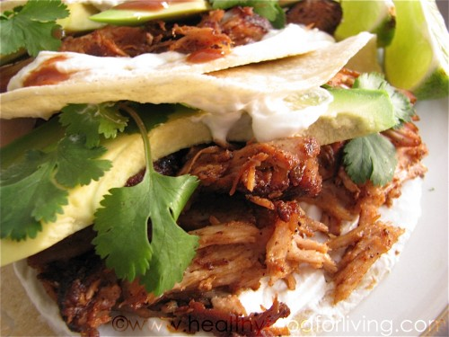 BBQ Pulled Pork Taco with Curry Slaw