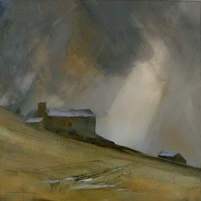Painting of Pennine farms