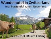 Wandelen in Zwitserland.  Boek nu met korting!