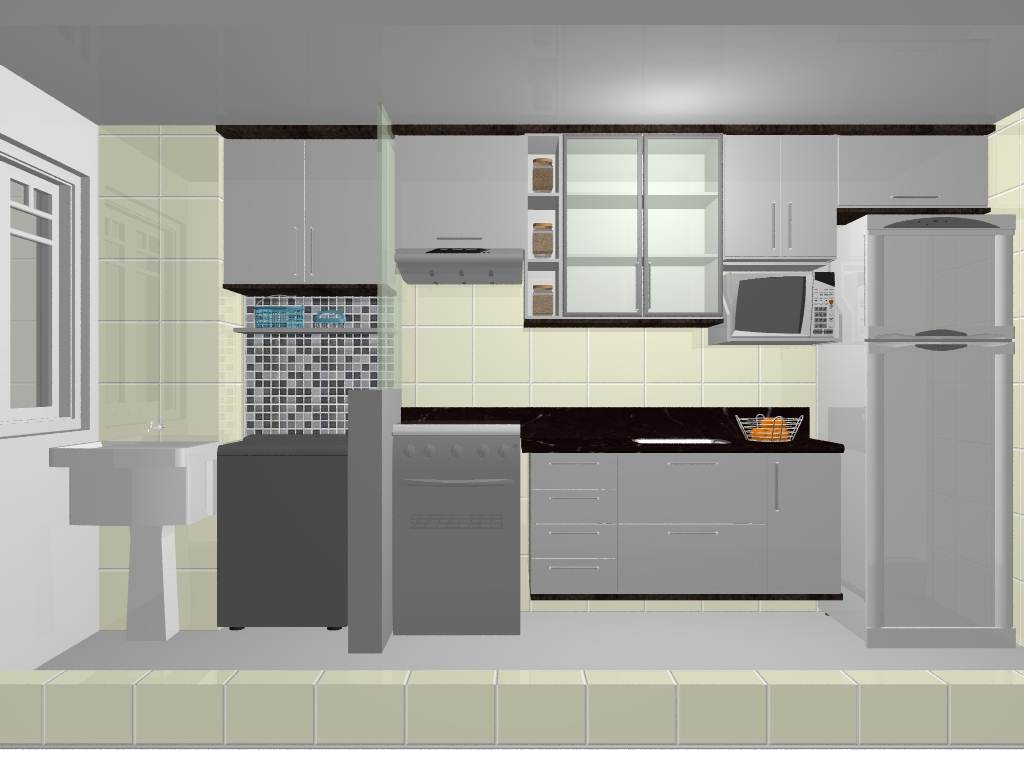 #4B6D78 Optar Por Cozinha E Lavanderia Integrada é A Melhor Opção 1024x768 px Projetos De Cozinha E Lavanderia Integradas #301 imagens
