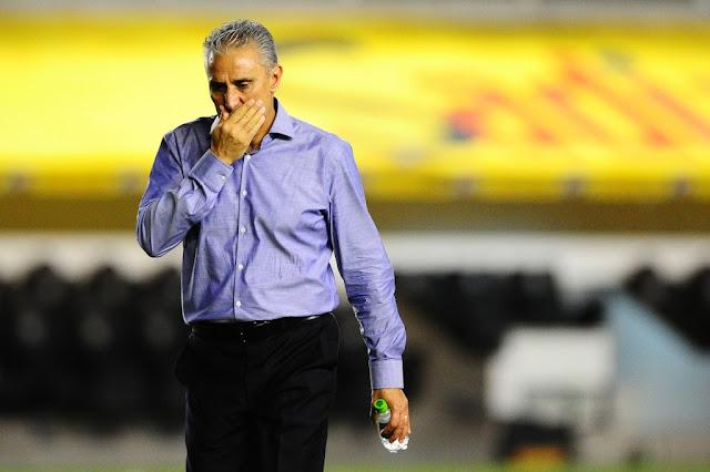 """Tite reconheceu uma atuação """"muito abaixo do padrão"""" do Corinthians (foto: Sergio Barzaghi/Gazeta Press)"""