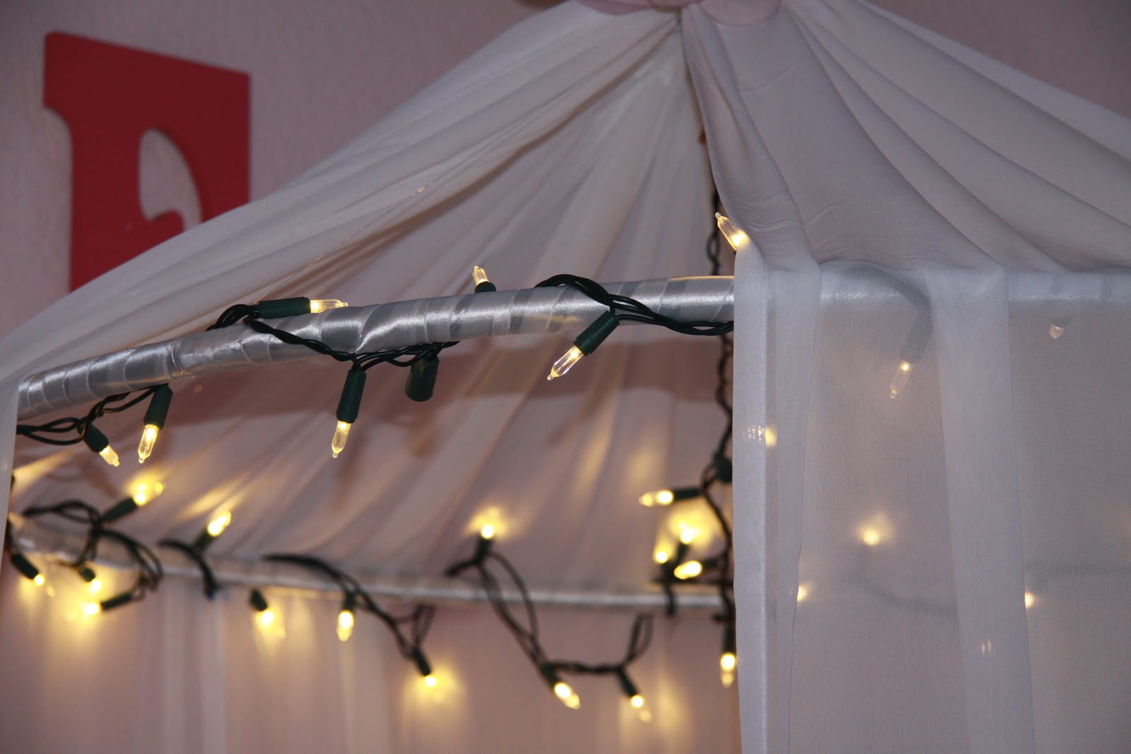 How to make a bed canopy for girls - Little Girls Bed Canopy With Lights