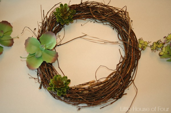 making Spring Wreath