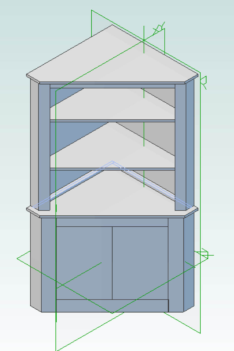 Designing for wood corner cabinet - Wood cabinet design software ...