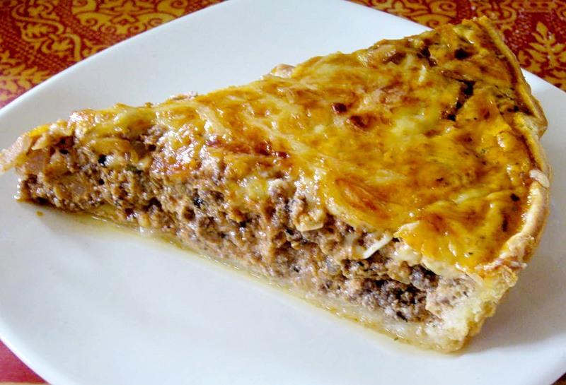 Вкусный пирог с фаршем в духовке рецепт