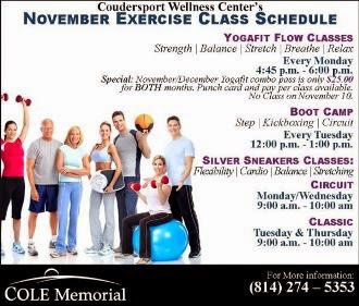 11-1 Cole Memorial Exercise Class