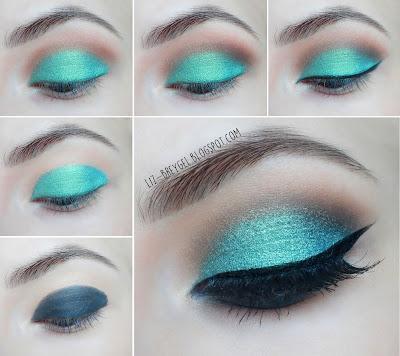 liz breygel beauty angel blogger eye shadow duochrome easy night makeup step by step tutorial for brown green eyes