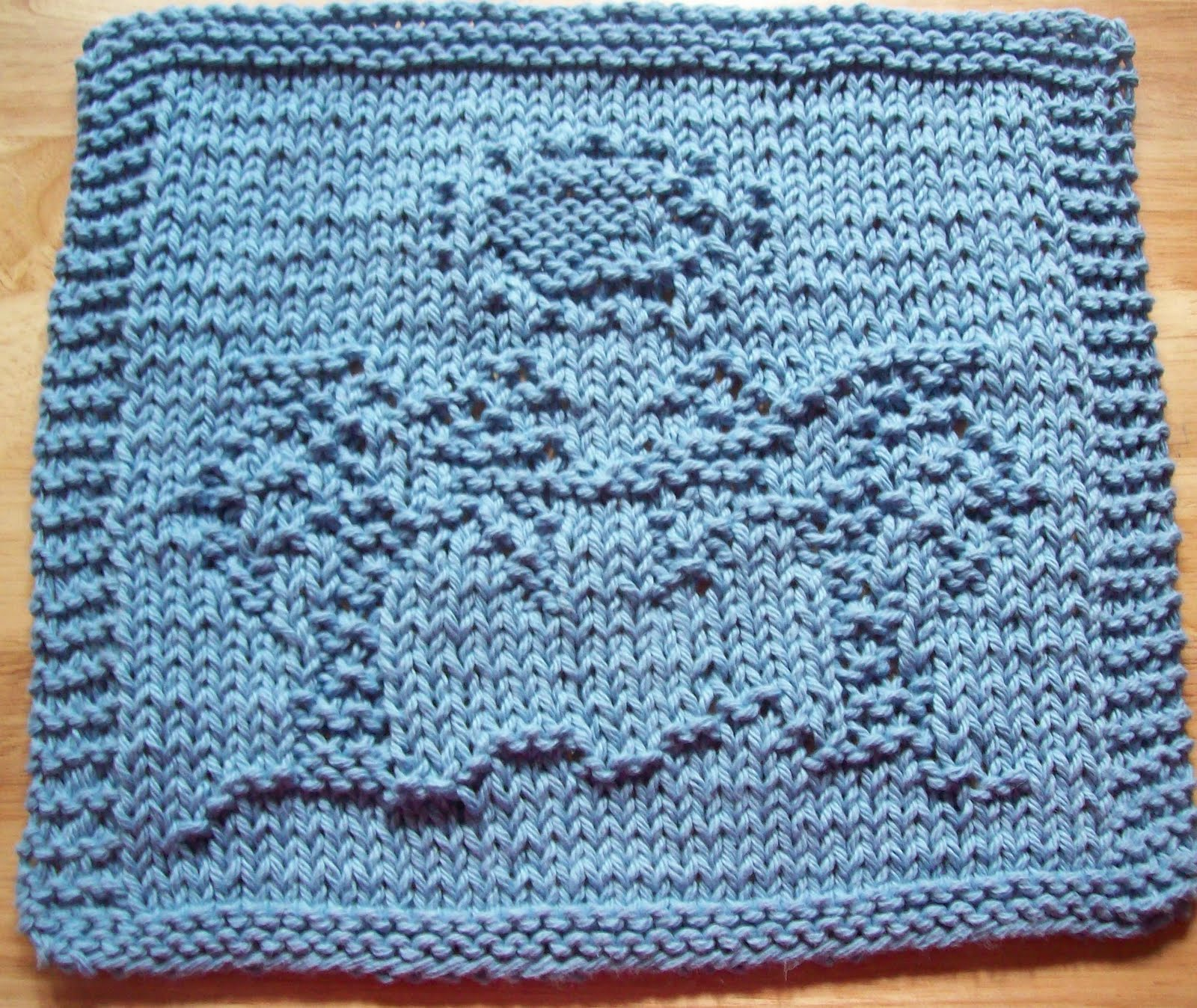 DigKnitty Designs: Palm Trees Knit Dishcloth Pattern
