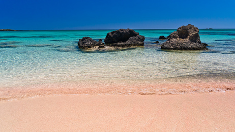Pink Sand Beach on Elafonissi, Crete