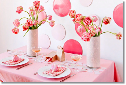 tulpanens dag, the tulip day, dukning tulpan, rosa dukning, pink table setting, table setting tulips, tablesetting pink