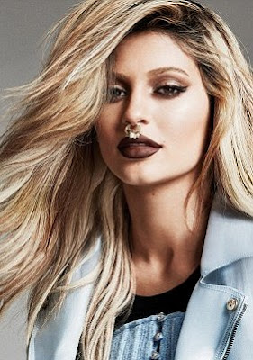 Kylie Jenner Poses With A Huge Gold Nose Ring For Elle Canada Shoot