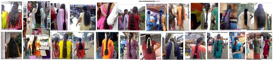 Long hair girls photo collections