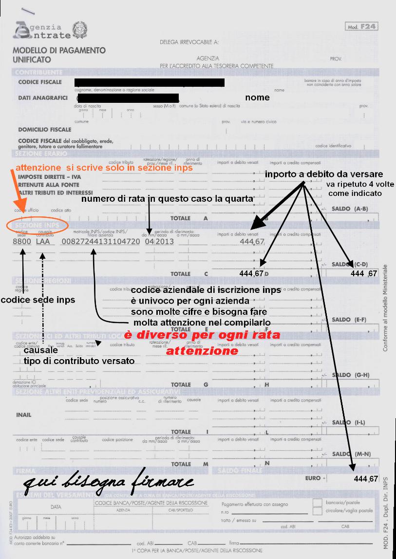 Confagricoltura mirano scadenze per il pagamento f24 for Pagamento f24