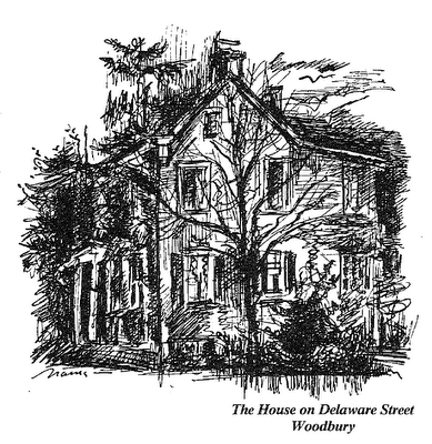 131 Delaware Street illustration by the late Narcissa Weatherbee