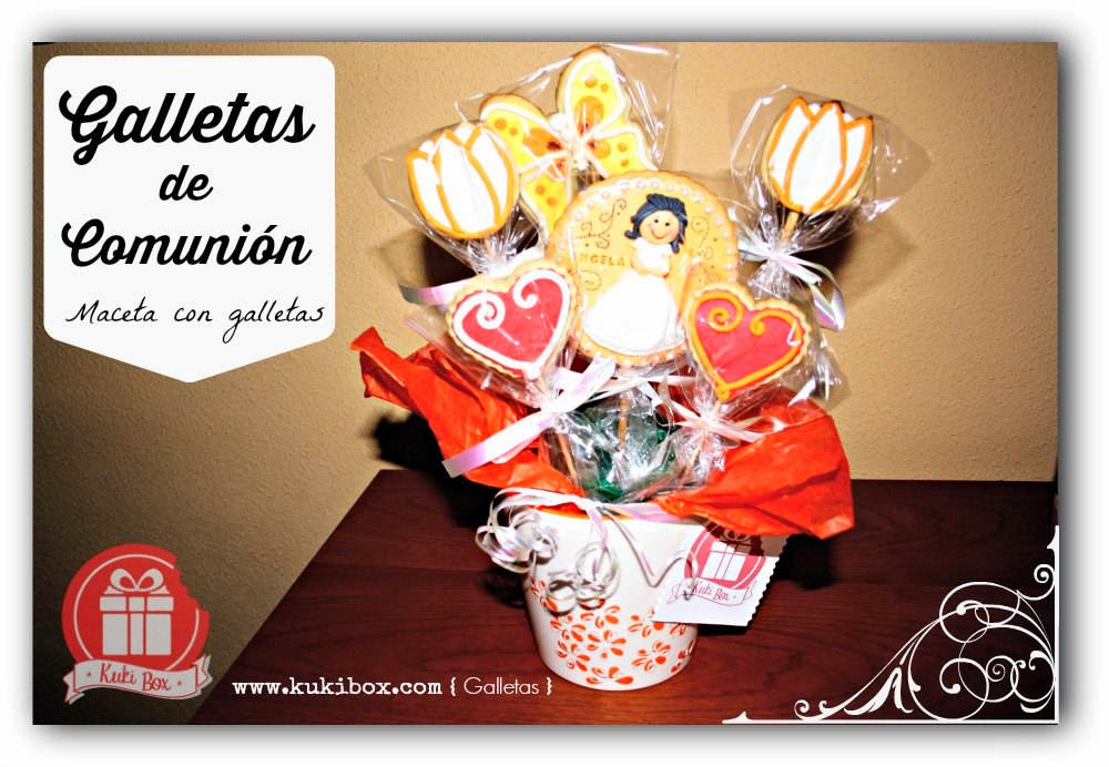 KukiBox - Galletas Comunion - Maceta de galletas