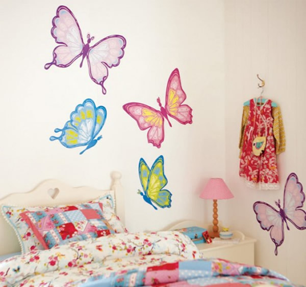 Modern stickers for kids bedroom wall for look beautiful for Childrens bedroom wall designs