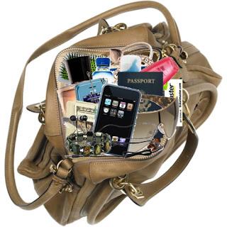 muchas cosas dentro de cartera