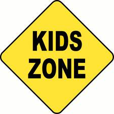 An sign that reads kids zone