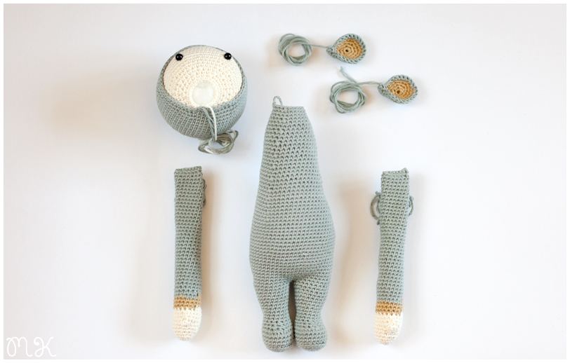 partes de un amigurimi listas para coser