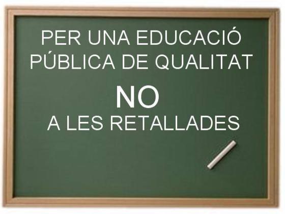 Ni en Educació ni en Sanitat!